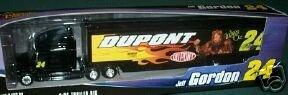 Jeff Gordon #24 Dupont 2004 Wizard of Oz Lion 1/64 Scale Winners Circle Hauler Trailer Rig Transporter Semi - Winners Trailer Circle