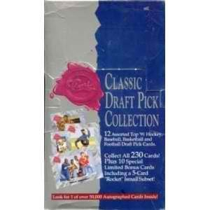 1991 Classic Draft Pick Collection Hobby Box (Four Sport - 1991 Classic Draft