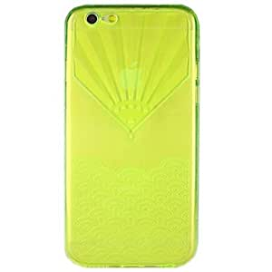 QHY Fan-Shaped Clamshell TPU Full Body Cases for iPhone 6 (Assorted Color) , Black