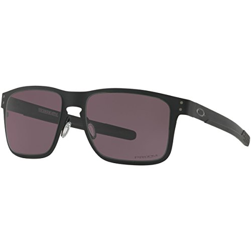 Oakley Men's Metal Man Square Sunglasses, Matte Black, 55 - Prizm Polarized Holbrook Metal