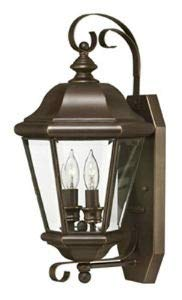 Hinkley 2425CB Clifton Park Brass Outdoor Lantern Fixture, Copper Bronze - Clear Beveled Bound Glass
