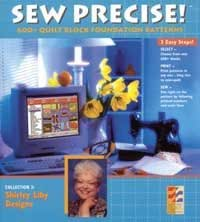 Electric Quilt Sew Precise Collection 3 Quilt Block Foundation Patterns