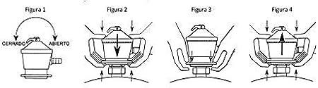 Talla /única Kit regulador de gas butano goma 1,5 metros y dos abrazaderas met/álicas Color plateado//naranja