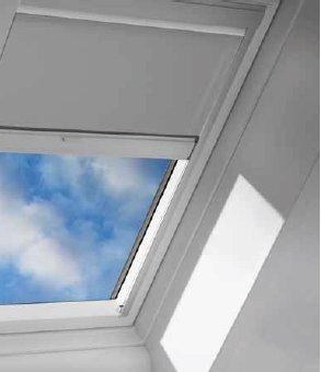 Velux dsh m08 1085 skylight blind solar powered blackout for Velux solar blinds