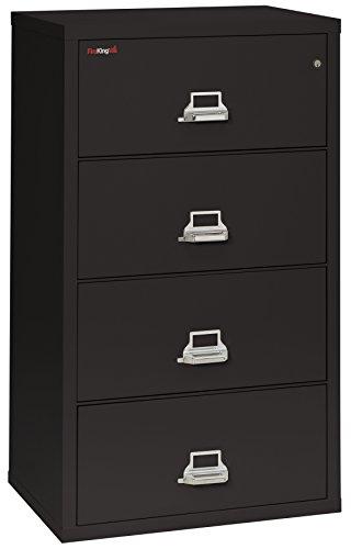 (FireKing Fireproof Lateral File Cabinet (4 Drawers, Impact Resistant, Waterproof), 31
