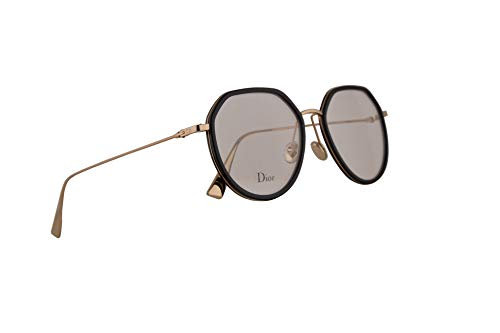 Christian Dior DiorStellaireO9 Eyeglasses 52-18-145 Black Gold w/Demo Clear Lens 2M2 StellaireO9 DiorStellaireo9 DiorStellaireo 9