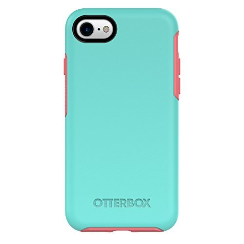 OtterBox 77-54021 SYMMETRY SERIES Case for iPhone 8 & iPhone 7 (NOT Plus)  - CANDY SHOP (AQUA MINT/CANDY PINK)