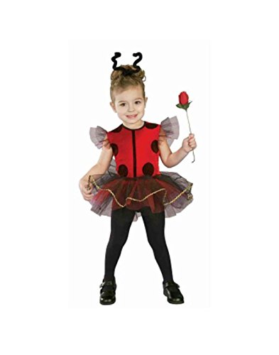 Forum Novelties Baby Girl's Lil Lady Bug Toddler Costume, (Lil Ladybug Infant Costume)