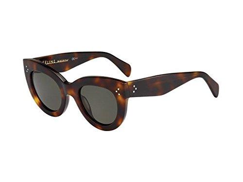 UPC 762753466716, Céline Sunglasses - 41050/S / Frame: Havana Lens: Green-41050S005L