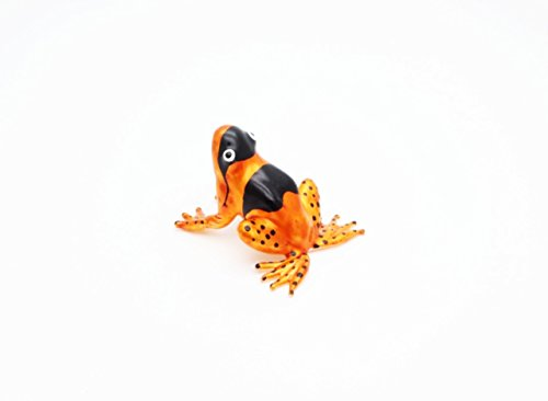 Lampwork GLASS Dark Orange Frog Sniper Figuarts