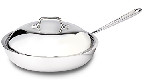 All-Clad 41117 Stainless Steel Tri-Ply Bonded Dishwasher Safe French Skillet with Domed Lid / Cookware, 11-Inch, Silver -