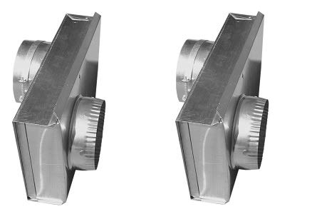 Builder's Best 010149 Adjustable Dryer Vent Periscope, 0'' to 5'', 6'' Length, 2'' ID, Aluminum (2-(Pack))