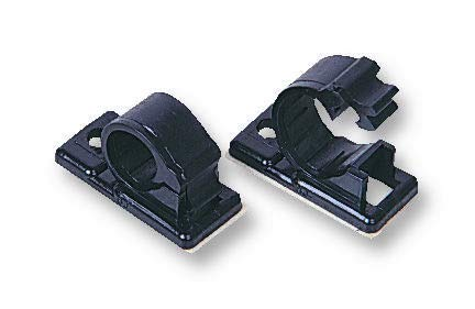 12J-S BLACK - Fastener, Releasable, Adhesive Backed Cable Clamp, 17 mm, Nylon 6.6 (Polyamide 6.6), Black, 41.3 mm (12J-S BLACK)