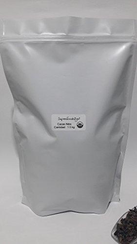 Superfoods2go! Cacao Nibs Orgánico, Sabor Chocolate, 1.5 kg