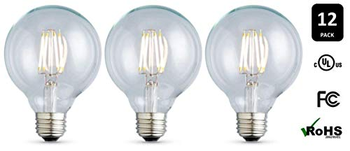 12-Pack Archipelago Lighting Nostalgic Series G25 Bulb, Clear 2.0W, 2700K, E26 Base, Non-Dimmable Light Bulbs