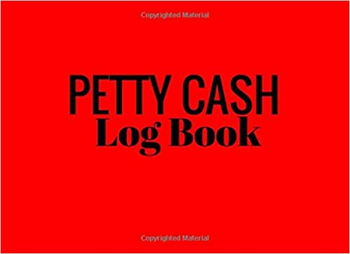 amazon com petty cash log book red 6 column payment record tracker
