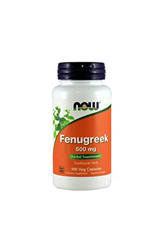 NOW Foods Fenugreek 500mg, 100 Capsules (Pack of 3)