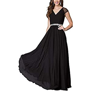 Aofur Womens Evening Dress Ball Gown Prom Party Wedding Formal Long Chiffon Maxi Dresses Plus Size