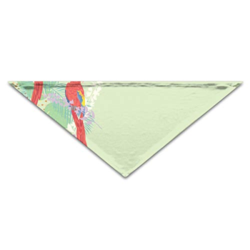 OHMYCOLOR Colorful Tropical Parrot Bird Dog Bandanas Scarves Triangle Bibs Scarfs Retro Basic Dogs Neckerchief Cat Collars Pet Costume Accessory Kerchief for Large&Medium&Small Puppy