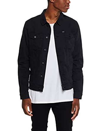 Riders by Lee Men's Canvas Jacket, Black Dust, R0S