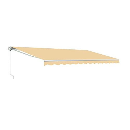 ALEKO AW12X10IVORY29 Retractable Patio Awning 12 x 10 Feet Ivory