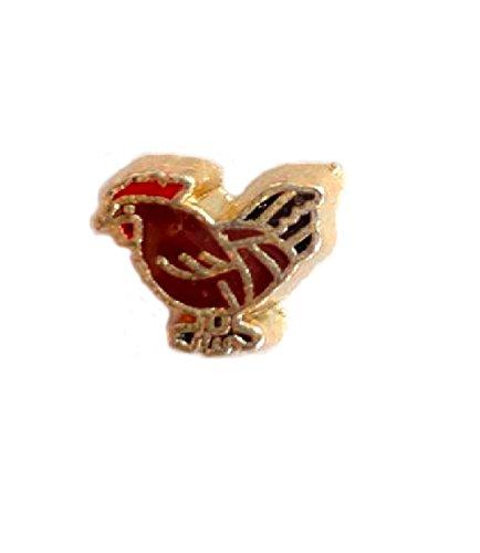 - Cherityne Rhode Island chicken Floating Charm for Locket Pendants