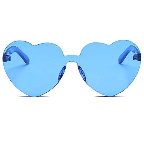 de Gafas Corazón de Sol UV con Estilo Sol con de Dark Gafas Fansport Blue de Sol Protección Gafas para Mujer qwfPOqRd