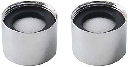 YeVhear 2 stuks M18 universele waterkraanbeluchter voor badkamer wastafel keuken gootsteen bidet waterkraan
