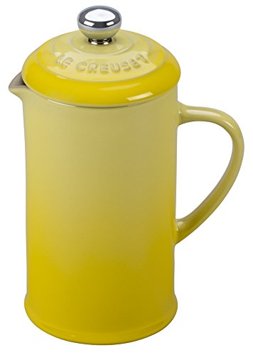 Le Creuset of America Stoneware Slight French Press, 12 oz, Soleil