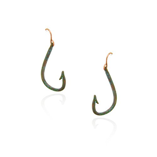 Boat Whaling (Patina Makau Fishhook Drop Earrings)