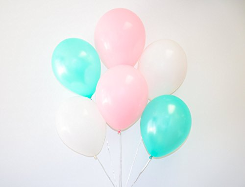 "12"" 3.2 Helium Quality Matte Latex Balloons - Tiffany,Lig..."