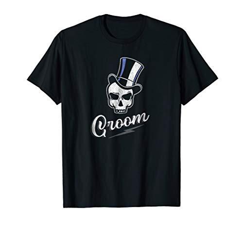 Mens Groom Skull in Tophat T-Shirt