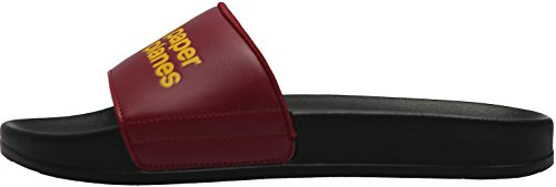 Paperplanes-1357-9 Unisex Daily Comfort Casual Slippers Shoes Black Wine lLAbLF