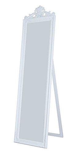 Milton Greens Stars Gisela Wooden Standing Mirror with Decorative Design, White ()