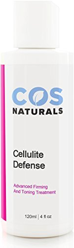COS Naturals CELLULITE DEFENSE CREAM Natural Organic Ingredients ADVANCED FIRMING & TONING TREATMENT Anti-Cellulite Lotion Body Slimming Gel Erase Dimples From Legs Arms Stomach Buttocks 4 Oz.