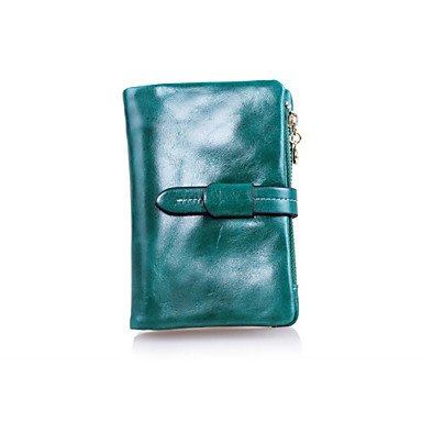 Formal Zipper Holder Burenqi amp; Coin Purse Sports Bi amp; Casual Green Unisex for Clutch Office Event ID Wedding fold Card Wallet Party Career X8rFU8xq