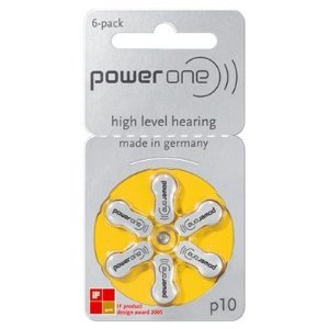 Power One size 10 No Mercury Hearing Aid Batteries (30 - Aid Batteries Hearing 10