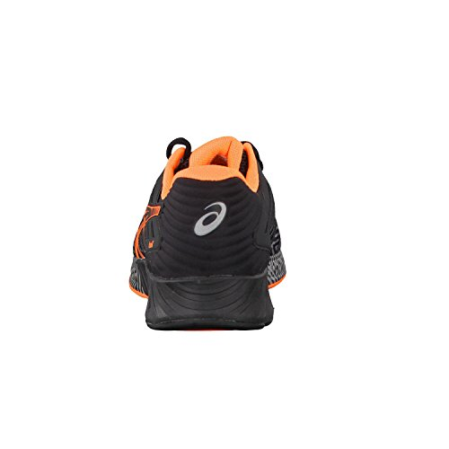 Asics Fuzex, Zapatillas de Running para Hombre Black/Orange - 10.5 UK
