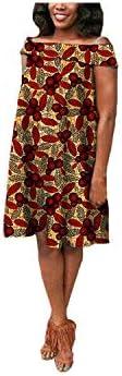 Cool-House Robes d'été pour Femmes |Africaine Femmes D'été Robe AFRIPRIDE Privé Personnalisé Hors-épaule Décontracté Midi Plissé Robe Plus