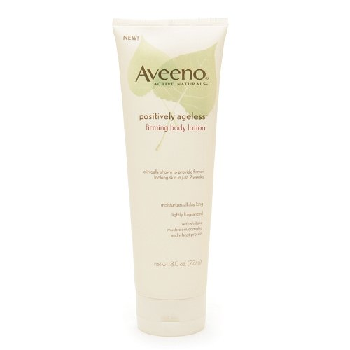 Aveeno Active Naturals Positively Ageless Firming Body Lotion 8 oz (227 g) package of 3