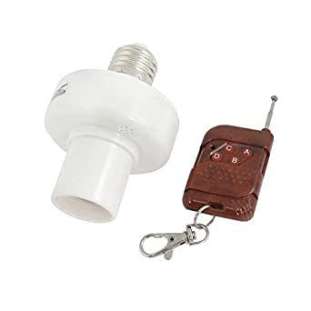 eDealMax 20M E27 distancia Soporte del Control de la lámpara de luz Para cabeza del interruptor