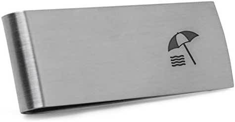 Beach Money Clip   Stainless Steel Money Clip Laser Engraved In The USA.