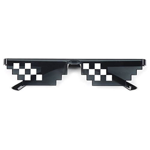 UJuly Black Funny Mosaic Sunglasses Toy for Kids Party Supplies Cool Mischievous Decoration for Men Women Adults by UJuly (Image #1)