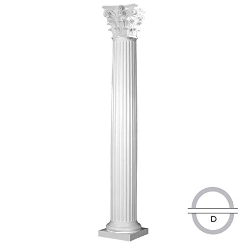 - Endura-Stone ESK0808DTFSATURC Round Fluted Tapered (FRP), Roman Corinthian Capital and Tuscan Base Column, 8