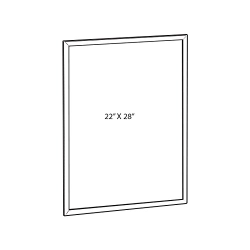 Metal Snap Frame in Silver 22W x 28H Inches for Freestanding Unit