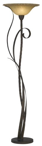Kathy Ireland Vine Torchiere Floor Lamp Furniture Madera Collection