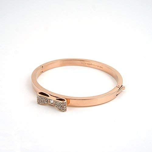 (Kate Spade New York Ready Set Bow Bangle Bracelet O0RU1547 (Rose Gold))