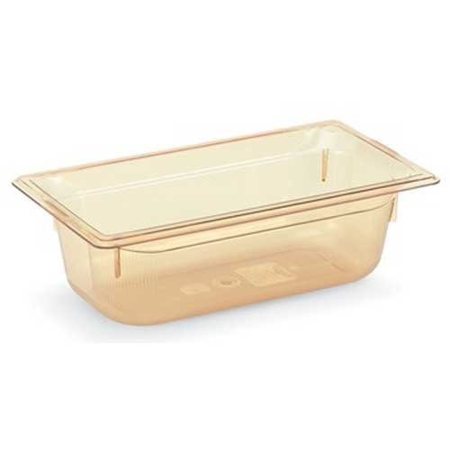 Vollrath Super Pan Amber 1/3 Size High Temperature Steam Table Pan, 4 inch -- 6 per case.
