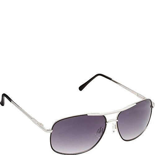 union-bay-mens-u934-slvbk-aviator-sunglasses-silver-black-61-mm
