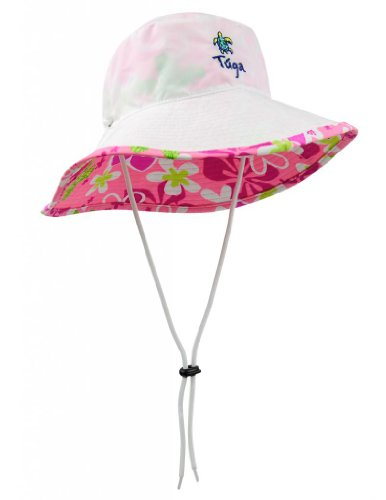 Tuga Girls UPF 50+ Reversible Bucket Hats (UV Sun Protective) - Floral